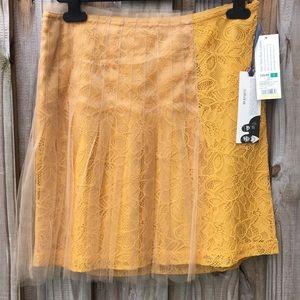 Rodarte for Target mustard yellow skirt. Size 7.